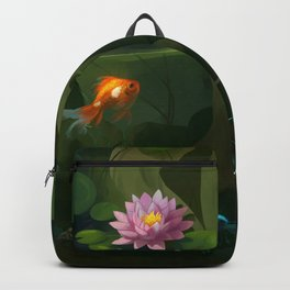 Naiad with Pond Dress Backpack