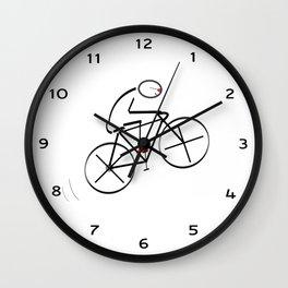 Stylized Bicyclist Wall Clock