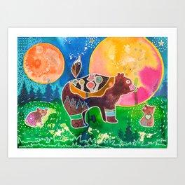 Mother Bear Art Prints