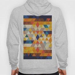 Geometric Triangle - Ethnic Inspired Pattern - Orange, Blue Hoody