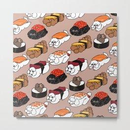 Sushi Poodle Metal Print