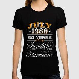 July 1988 Gifts 30 Years Anniversary Celebration T-shirt