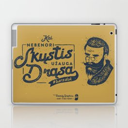 No Shave November Lithuania Laptop & iPad Skin