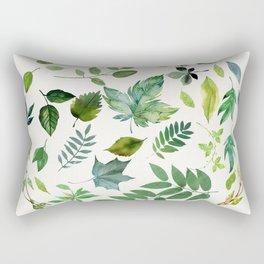 Circle of Leaves Rectangular Pillow