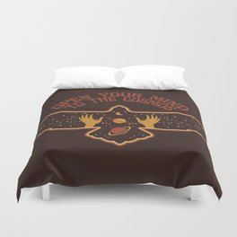 OPEN YOUR MIND TO THE COSMOS Duvet Cover