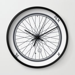 Bicycle rim with the solar system Wall Clock
