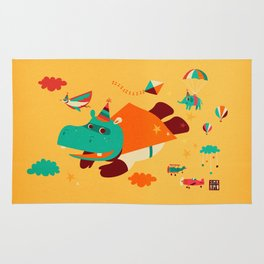 Super Hippo! Rug