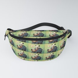 Wise Panda: Love Makes the World Go Around! Fanny Pack