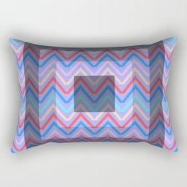 Chevron in shades of blue Rectangular Pillow