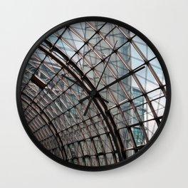 train station - glass - Berlin Wall Clock