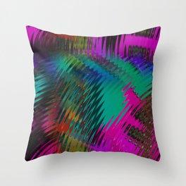 Deep Colorful Scratch Design Throw Pillow