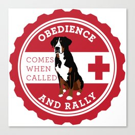 Obedience and Rally Badge Canvas Print