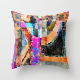 Artful Spirit Mosaic Colorful Geometric Abstract Throw Pillow
