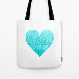 AQUA HEART Tote Bag