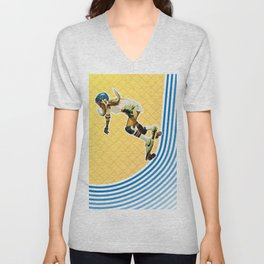 Skate Like a Girl Unisex V-Neck