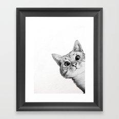 sneaky cat Framed Art Print