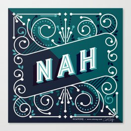 Nah – Teal Palette Canvas Print