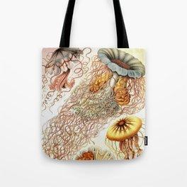 SEA CREATURES COLLAGE-Ernst Haeckel Tote Bag
