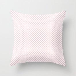 Blushing Bride Polka Dots Throw Pillow