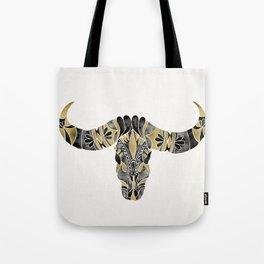Water Buffalo Skull – Black & Gold Palette Tote Bag
