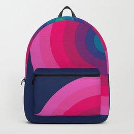 Blue/Pink Bullseye Backpack