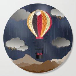 Balloon Aeronautics Rain Cutting Board