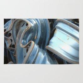 Junk Yard Wheels Rug