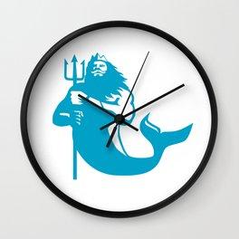 Triton Wielding Trident Retro Wall Clock