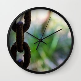 rusted chain, hanging Wall Clock