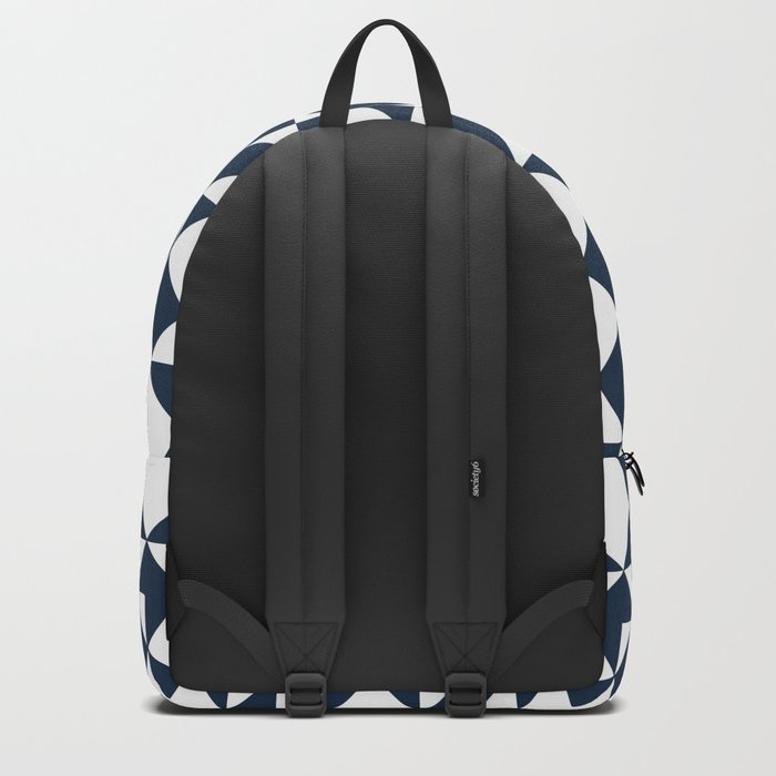 Navy blue geometric pattern Backpack