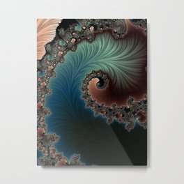 Velvet Crush - Fractal Art Metal Print