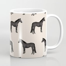 Black horse farm animal horses gifts Coffee Mug