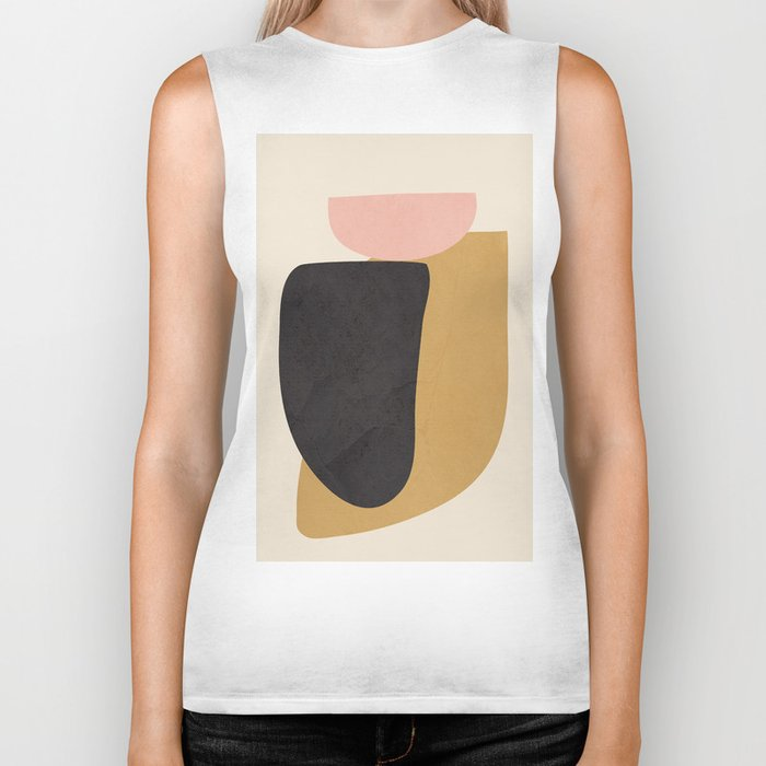 Abstract Shapes 34 Biker Tank