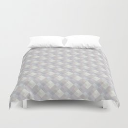 Light purple rhombuses. Duvet Cover