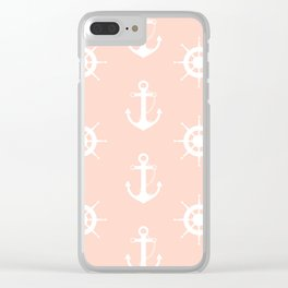 AFE Anchor and Helm Wheel Clear iPhone Case