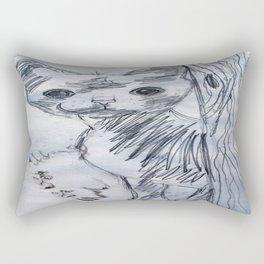 Playful Kitten Rectangular Pillow