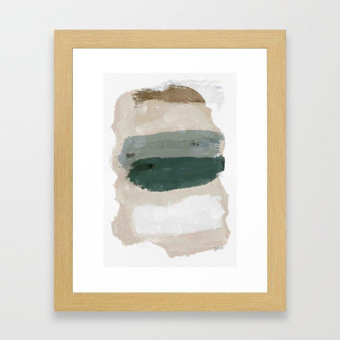 Paint Stripes Framed Art Print