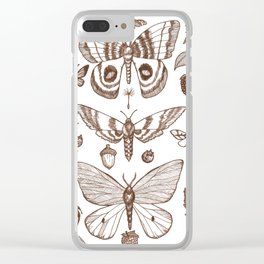 Natural History (Brown) Clear iPhone Case