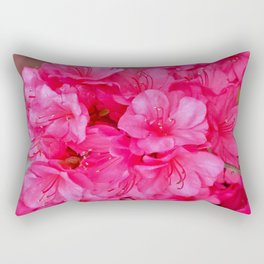 Pink Azalea Blooms 2 Rectangular Pillow
