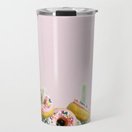 Donut Cactus In Bloom Travel Mug