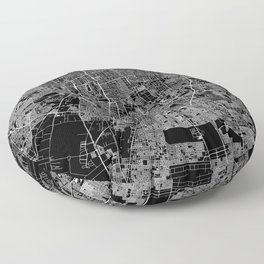 Santiago Black Map Floor Pillow