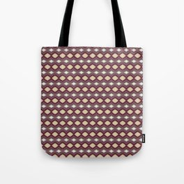 Handcrafted Diamonds Claret Tote Bag