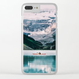 Lone Kayak Clear iPhone Case