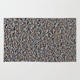 Grey Gravel Pattern Rocks Rug