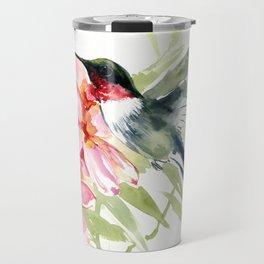 Hummingbird and Plumerias Travel Mug