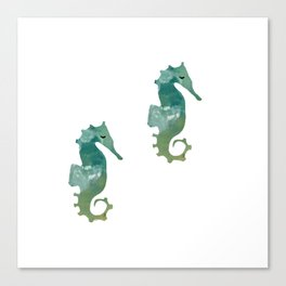 Abstract Acrylic Painting SEA HORSE Canvas Print