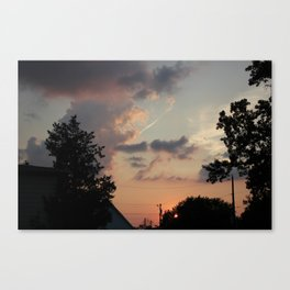 Purple Sunse Canvas Print