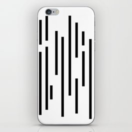 Minimal Lines - Black iPhone Skin