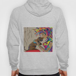 """Fall in Lust"" Paulette Lust's Original, Contemporary, Whimsical, Colorful Art  Hoody"