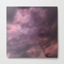 purple pink clouds Metal Print